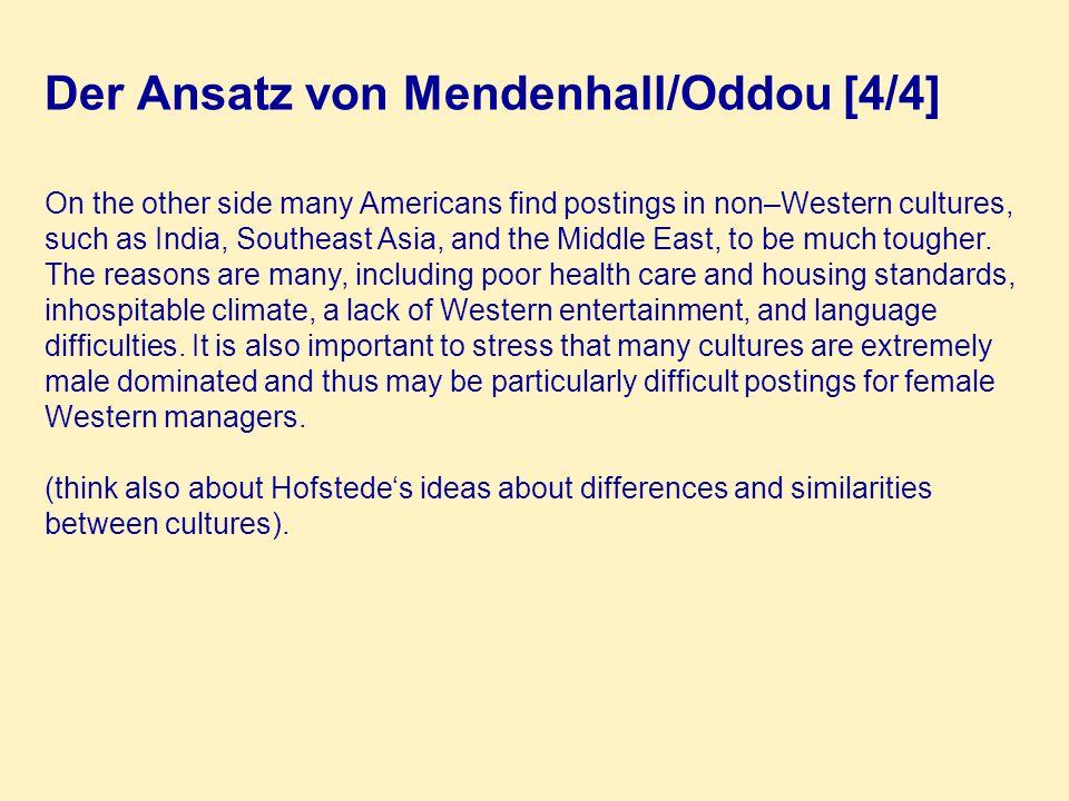 Der Ansatz von Mendenhall/Oddou [4/4]